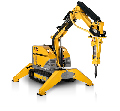 Brokk robotic concrete breaking
