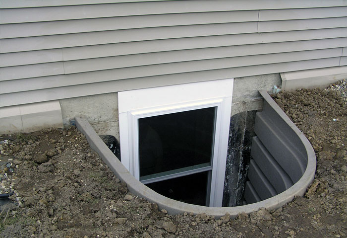Egress window wall