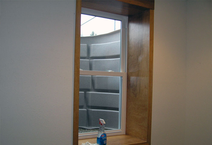 Egress window in basement
