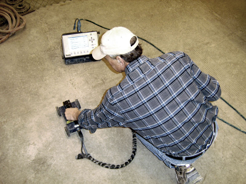 Man with GPR scanner